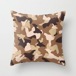 Desert camo sand camouflage army pattern Throw Pillow