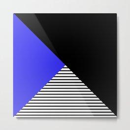 Blue & Black Geometric Abstraction Metal Print