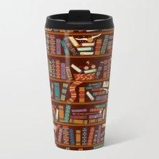 Bookshelf Metal Travel Mug