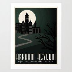 Arkham Asylum for the Criminally Insane Art Print