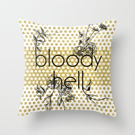 Bloody Dotty Hell Throw Pillow