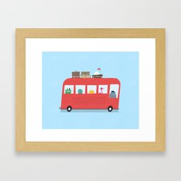 Funny Bus Framed Art Print