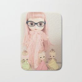 rose and the three angels Bath Mat