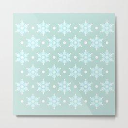 The retro snowflake I Metal Print