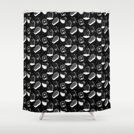 Grim Pattern (large) Shower Curtain