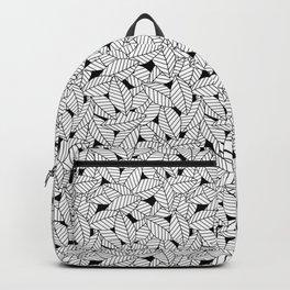 Leaves in Black Backpack