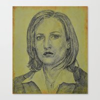 scully Canvas Prints featuring Scully by Jenn