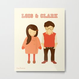 Lois and Clark - Superman The Younger Years - Comic Superhero Illustration Print Metal Print