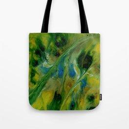 Abstract, Yellow, Green, Blue (CA17020B) Tote Bag