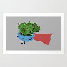Super Salad Art Print