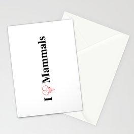 I Heart Mammals Stationery Cards