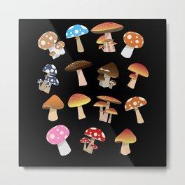 Mushroom Lover Mycology Foraging Morel Hunting Metal Print