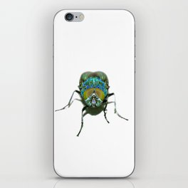 Blue Green Psychedelic Fly  iPhone Skin