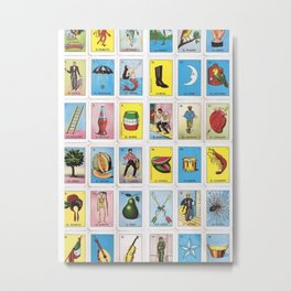 Lotería Cards Metal Print