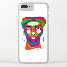 Palenquera es color Clear iPhone Case