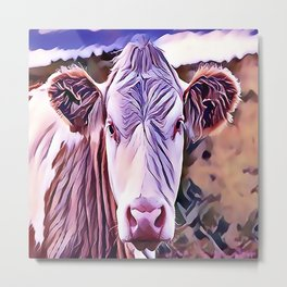 The Jersey Dairy Cow Metal Print