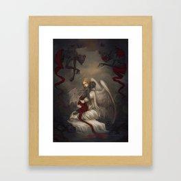 Sancti diabolo Framed Art Print