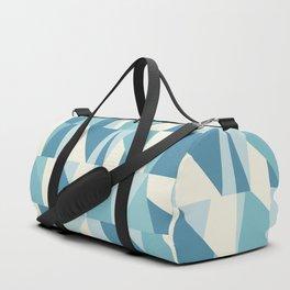 Geometric Blue Pattern Duffle Bag