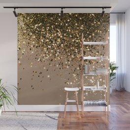 Sparkling Gold Brown Glitter Glam #1 (Faux Glitter) #shiny #decor #art #society6 Wall Mural