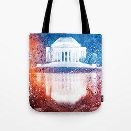Jefferson Memorial - Vibrant Acrylic Fantasy Tote Bag