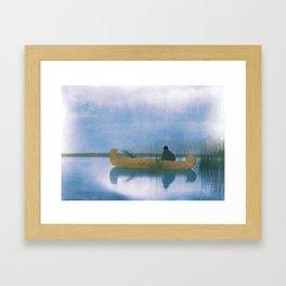 Kutenai duck hunter - American Indian Framed Art Print