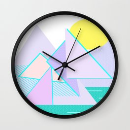Hello Mountains - Lavender Hills Wall Clock