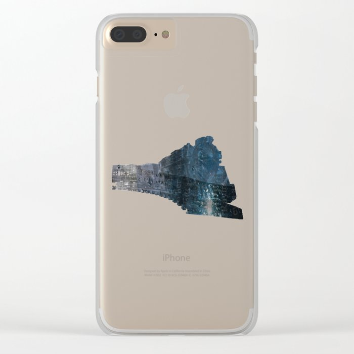 Taking the Evening Train Through Winter Words Clear iPhone Case