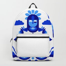 Libra in Blue Backpack