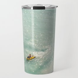 Jet Ski Friends in the Ocean   Paradise   Beach Mood   Aerial Photography   Ocean Print Travel Mug