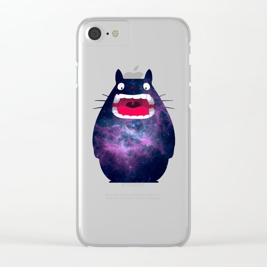 My Neighbor Cosmos Clear iPhone Case