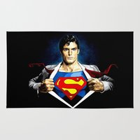 superman Area & Throw Rugs featuring Superman by DavinciArt