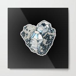 Hematite Crystal Cluster Metal Print