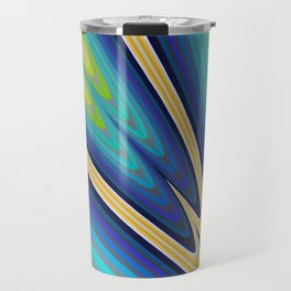 Aurora Borealis Fractal Art Travel Mug