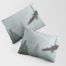 Battle for the Cedars - Bald Eagles Wildlife Scene Pillow Sham