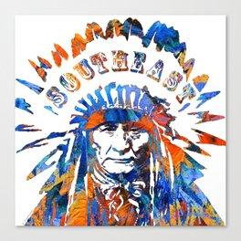 Southeast Native American Logo Design by Sharon Cummings Canvas Print