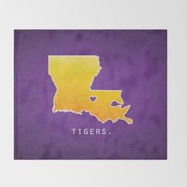 Louisiana State Tigers Throw Blanket