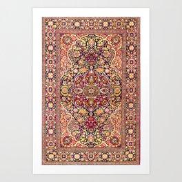 Esfahan Antique Floral Persian Rug Art Print