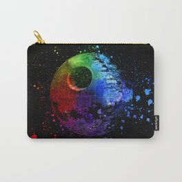 Death Star Abstract Painting - Colorful StarWars Art Carry-All Pouch