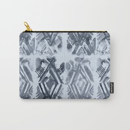 Simply Ikat Ink in Indigo Blue on Sky Blue Carry-All Pouch