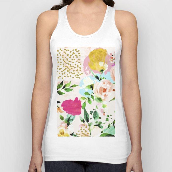 Floral Blush #society6 #decor #buyart Unisex Tank Top