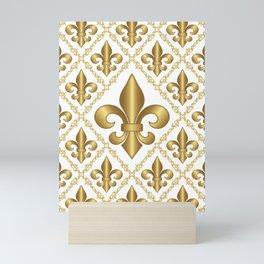 Gold Fleur-de-Lis Pattern Mini Art Print