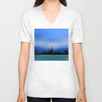 chicago V-neck T-shirts featuring Chicago by dBranes