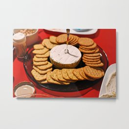 Cheese and Crackers Metal Print