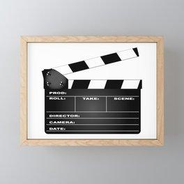 Clapperboard Framed Mini Art Print