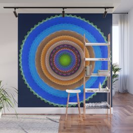 Colourful mandala with tribal patterns Wall Mural