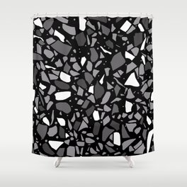 Terrazzo Spot Black 2 Shower Curtain