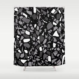 Terrazzo Spot Black 2 Shower Curtain