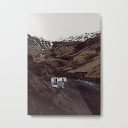 The old Seljavellir swimming pool | most unique place in the world | landscape photography Iceland  Metal Print
