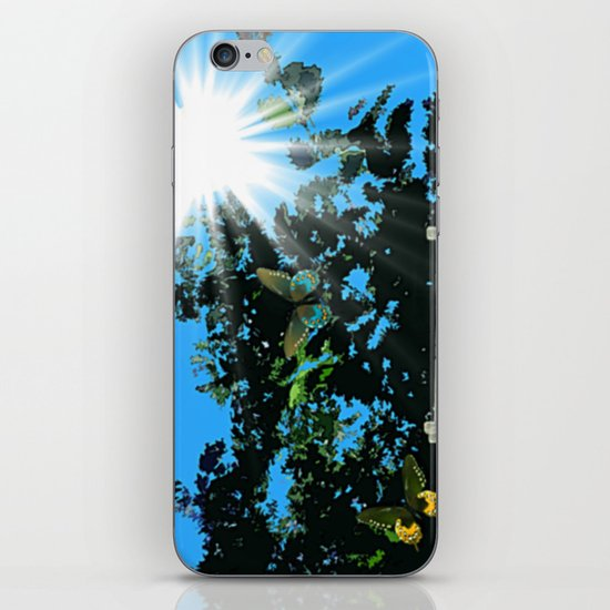 On the edge of the garden. iPhone & iPod Skin