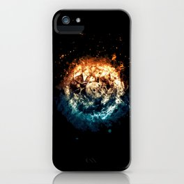 Burning Circle - Fire and Ice - Isolated iPhone Case